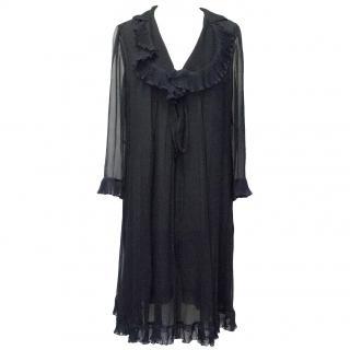 Chloe Midnight Blue Long Sleeve Dress