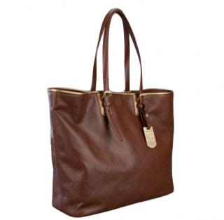 Longchamp Embossed Leather Tote