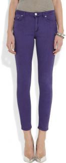 Acne Studios  purple skinny jeans