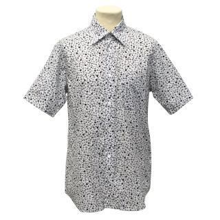 Comme Des Garcons Black and White Floral Print Shirt