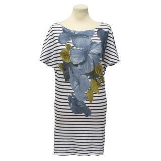 Stella McCartney Striped Flower Tunic Top