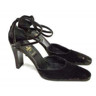 Fendi Velvet Heels