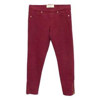 Mayoral Red Jeans with Zip Ankle Fastening