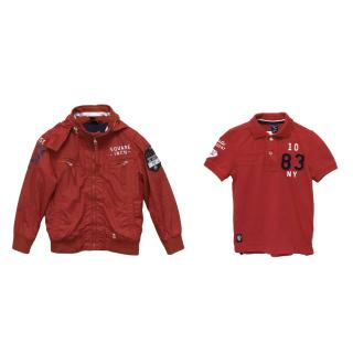 SevenOneSeven Red Jacket and Applique Polo Shirt