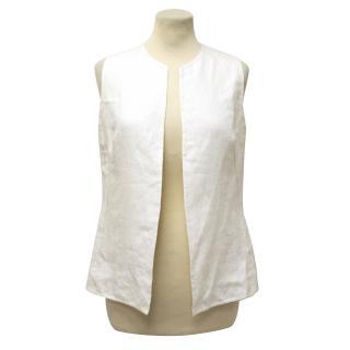 Bamford Cream Linen Waistcoat
