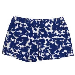 Milly Blue Printed Shorts