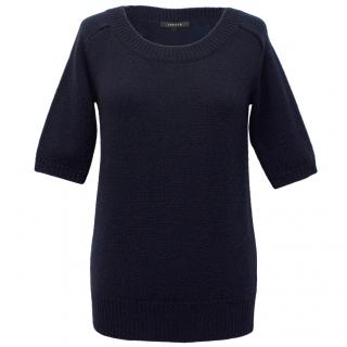 Jaeger Navy Blue Sweater