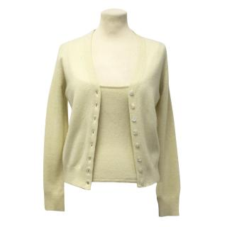 Sportmax Yellow Cashmere Cardigan and Top