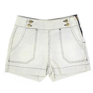 Hudson High Waisted Striped Shorts