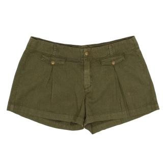 Goldsign Green Military Look Shorts