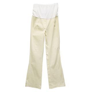 Tiffany Rose Cream Maternity Trousers