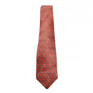 Faberge Red Silk Tie
