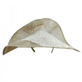 Yvette Jelfs Couture Silver lace hat