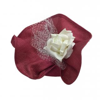 Yvette Jelfs Sample Pink Parisisal Sinamay Bonnet