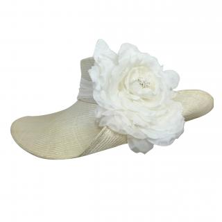 Yvette Jelfs Cream Parisisal with Silk Flower