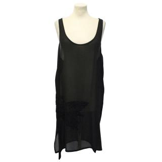 Ann Demeulemeester Black Silk Vest Top