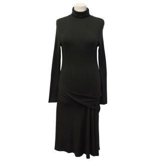 La Perla Black Roll Neck Dress