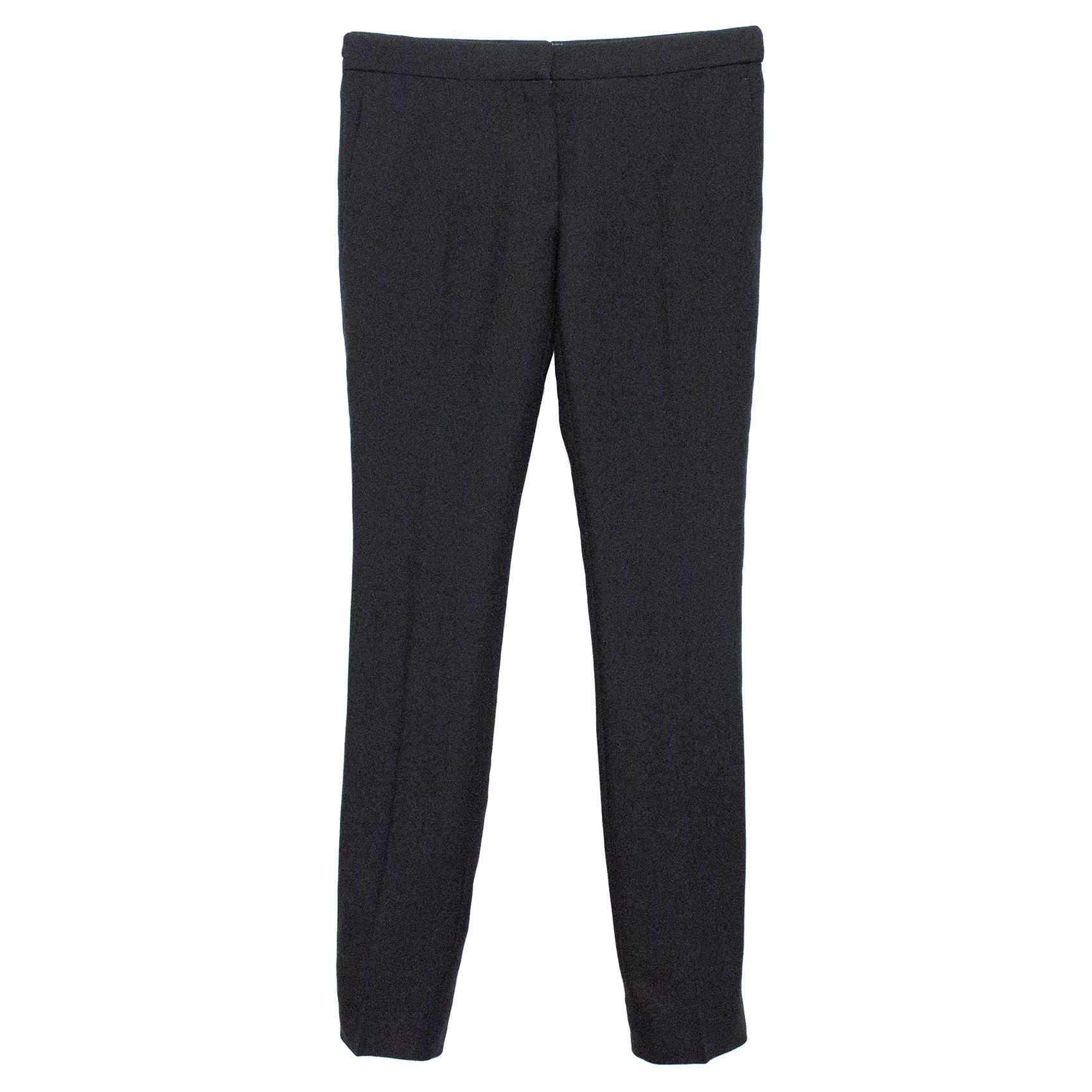 Burberry Prorsum Black Woven Trousers
