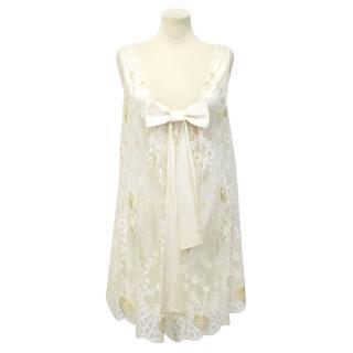 Paul & Joe Cream Maestria Lace Shift Dress