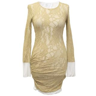 A.L.C. Beige Lace Dress