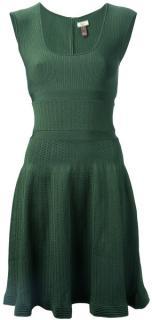 Issa green stretch knit dress