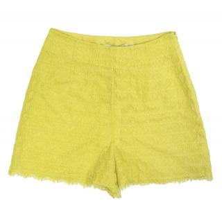 Twenty8Twelve Bonita Yellow Lace Shorts