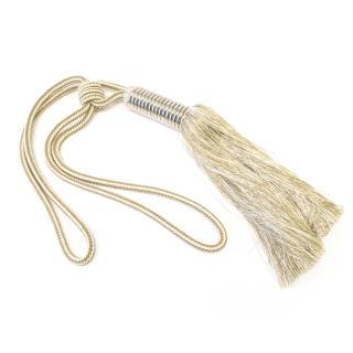 Bespoke Gold/Cream Curtain Tassel Tie Back
