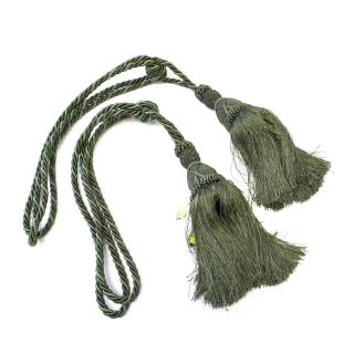 Bespoke Green and Brown Curtain Tassel Tie Backs Pair