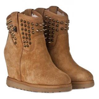 Ash Tan Suede Sheepskin Boots