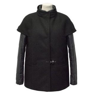 Fay Black Double layer coat