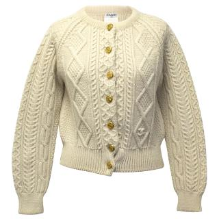 Chanel Cream Wool Knit Cardigan