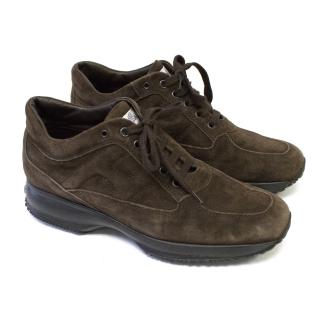 Hogan Brown Suede Trainers