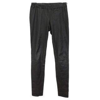 Club Monaco Collection Black Leather Trousers