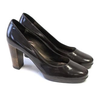 Gianvito Rossi Brown Patent Heels