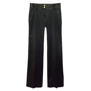 Dolce & Gabbana Black Acetate Shine Trousers