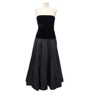 Ralph Lauren Black Strapless Gown