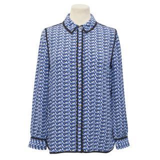 Juicy Couture Printed Silk Shirt