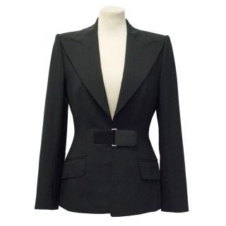 Dolce & Gabbana Black Blazer with Velcro Fastening