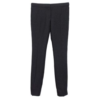 Burberry Prorsum Black Woven Trousers