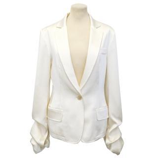 Y3 Cream Silk Blazer