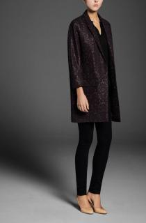 New Massimo Dutti Paisley Patterned Coat