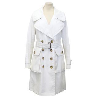 Burberry Cream Trench Coat