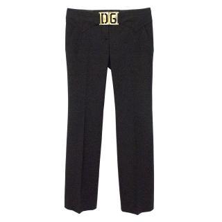 Dolce & Gabbana Black Smart Trouser