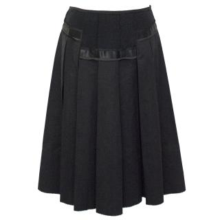 Donna Karan Collection Black Pleated Skirt