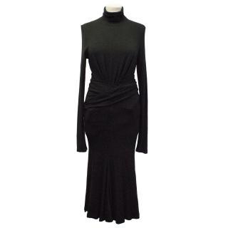Donna Karan Black Roll Neck Maxi Dress