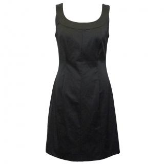 Walter Voulaz Black Satin Dress