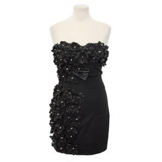DSquared2 Leather Flower Dress