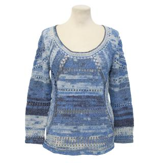 Rag & Bone Blue Crochet Jumper