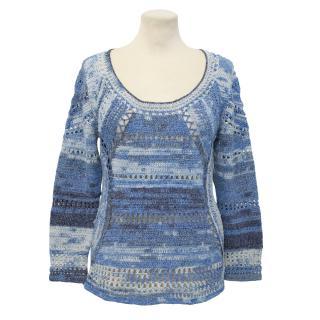 Rag & Bone Blue Crochet Jumper