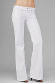 7 for all mankind new white dojo flare jeans